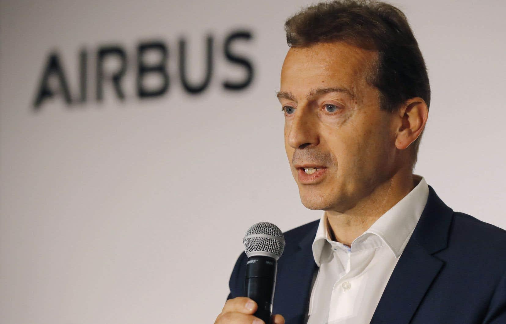 Le président-directeur général d'Airbus, Guillaume Faury