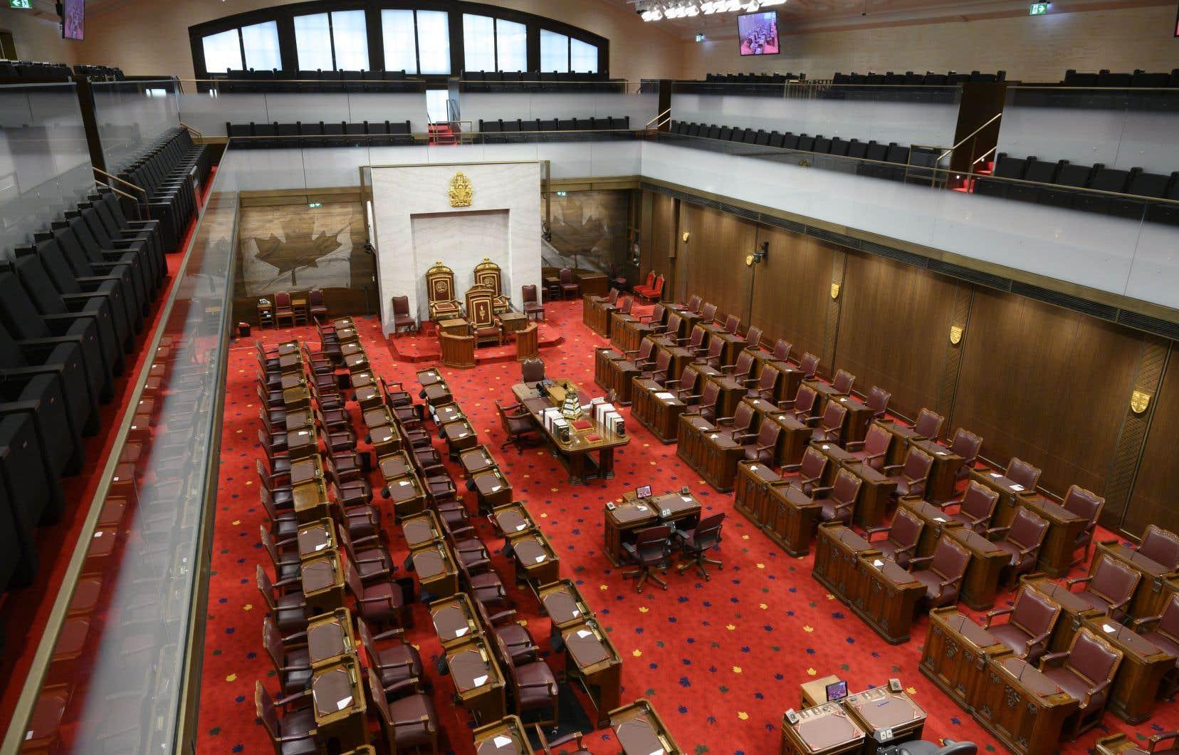 La chambre su Sénat, dite la «chambre rouge»