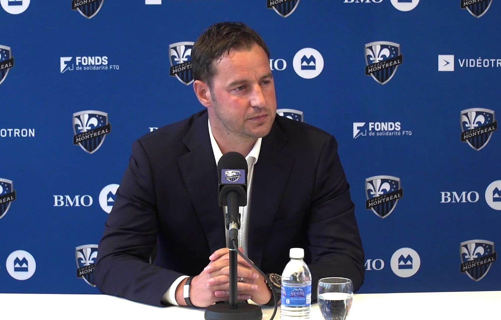 Le nouveau directeur sportif de l'Impact de Montréal, Olivier Renard