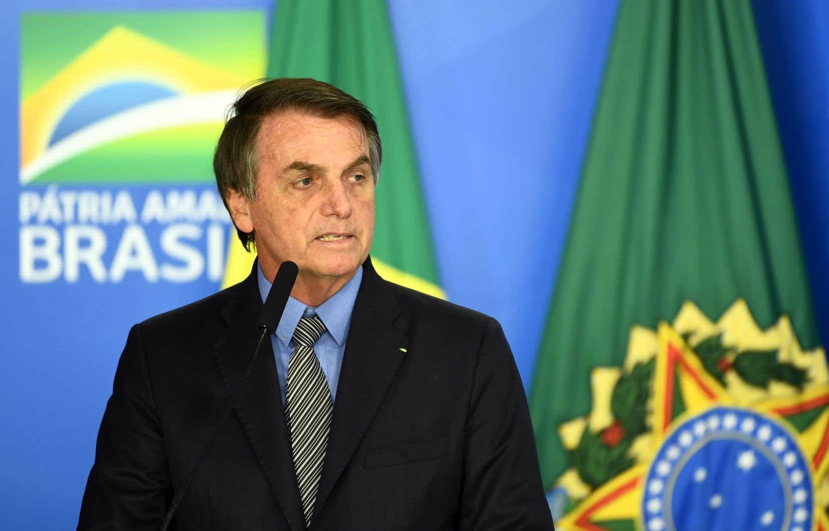 Jair Bolsonaro a été élu président en janvier dernier.