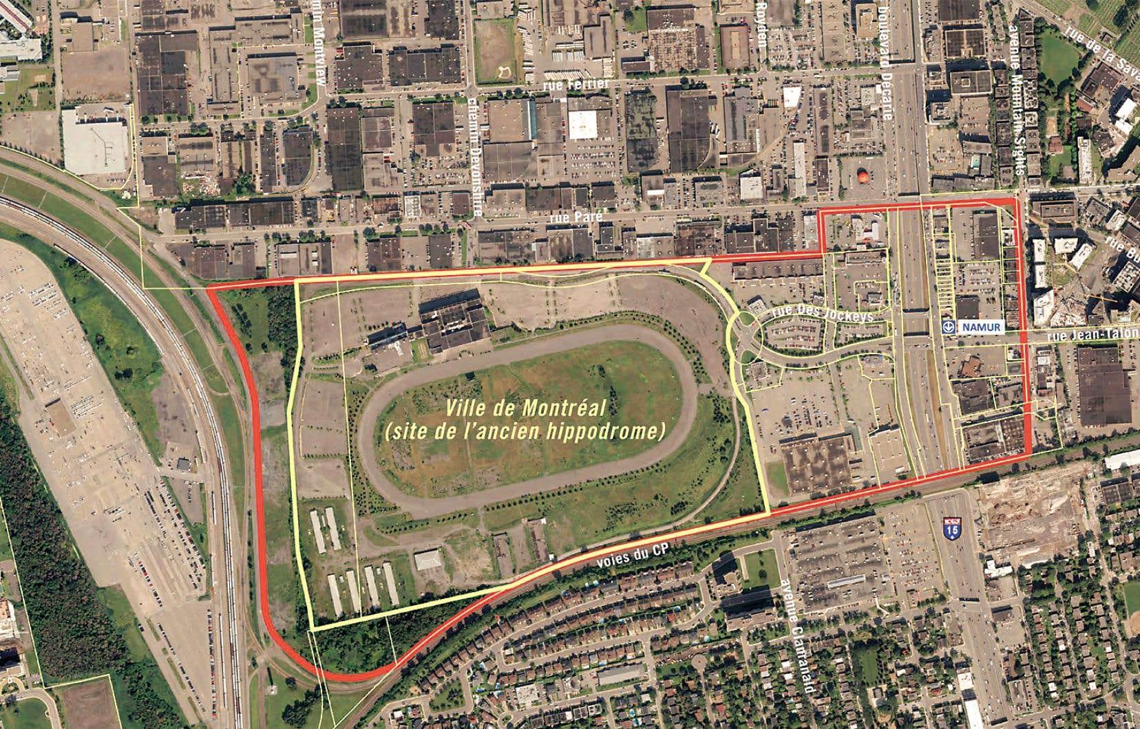 Le quartier qu'entend développer Montréal s'étend de l'ancien hippodrome à la station de métro Namur.