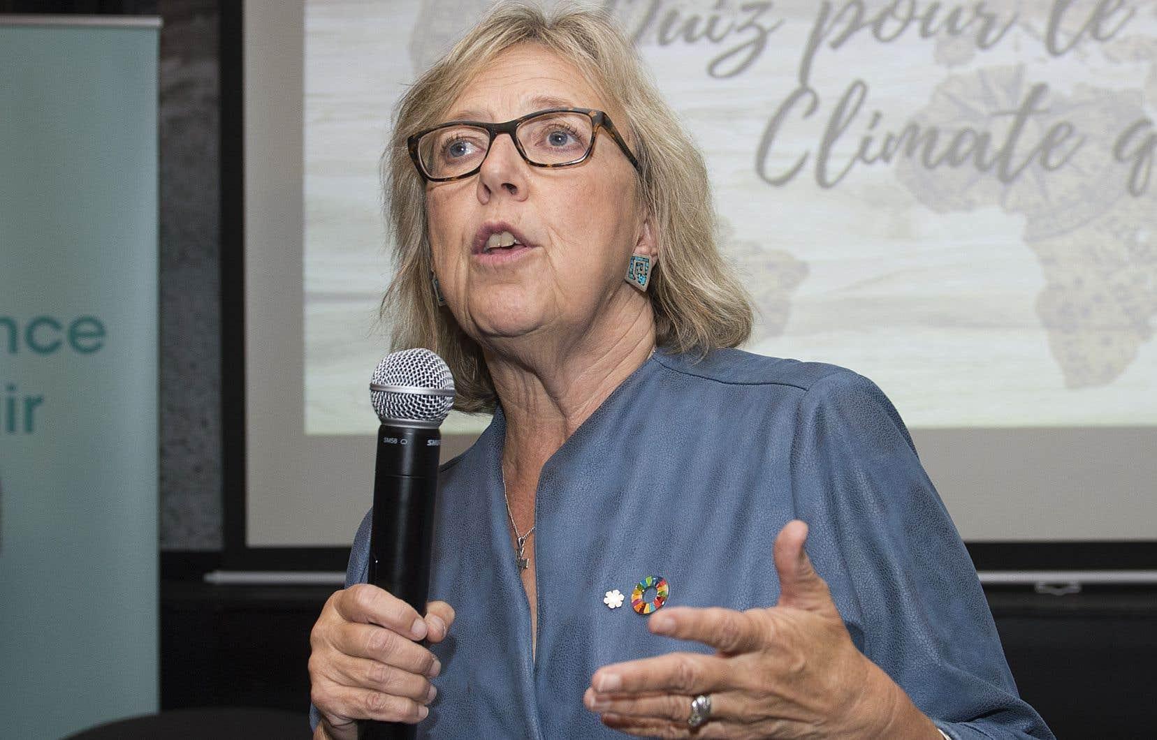 La cheffe du Parti vert, Elizabeth May