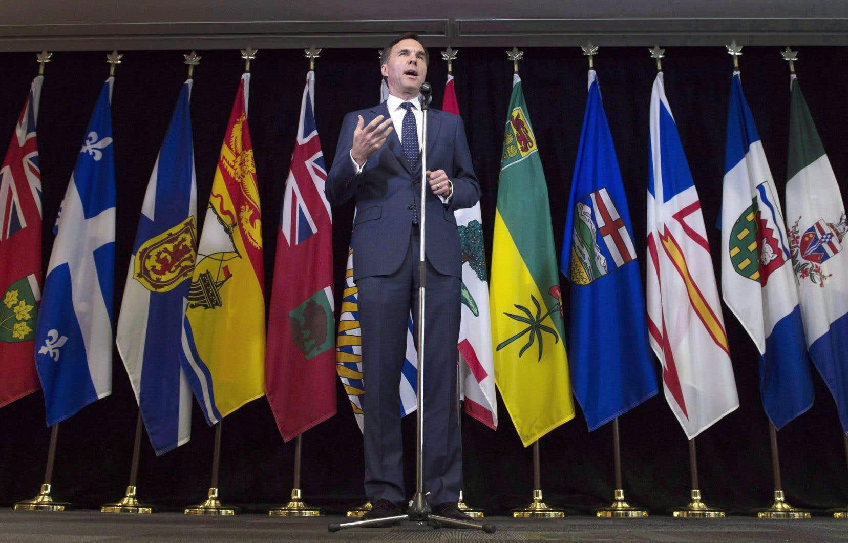 Le ministre des Finances Bill Morneau en juin 2017, lors d'une rencontre avec ses homologues des provinces