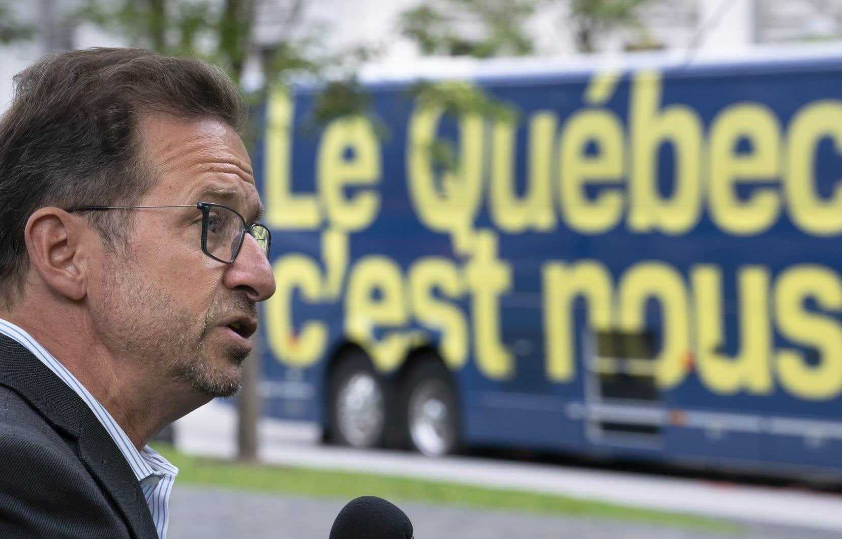Yves-François Blanchet soutient que la loi québécoise de la laïcité relève exclusivement de Québec et souhaite maintenant parler d'autres enjeux.
