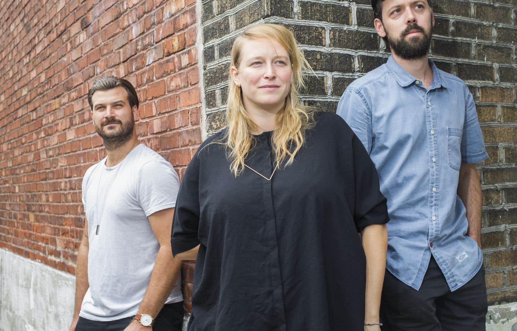 Charles Lavoie, Franny Holder et Vincent Legault, du groupe Dear Criminals