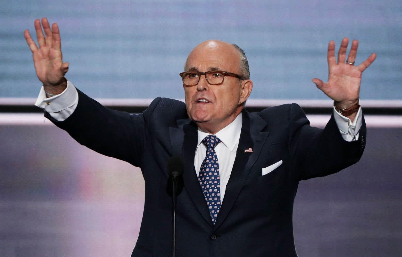 L'avocat personnel du président Donald Trump, Rudy Giuliani