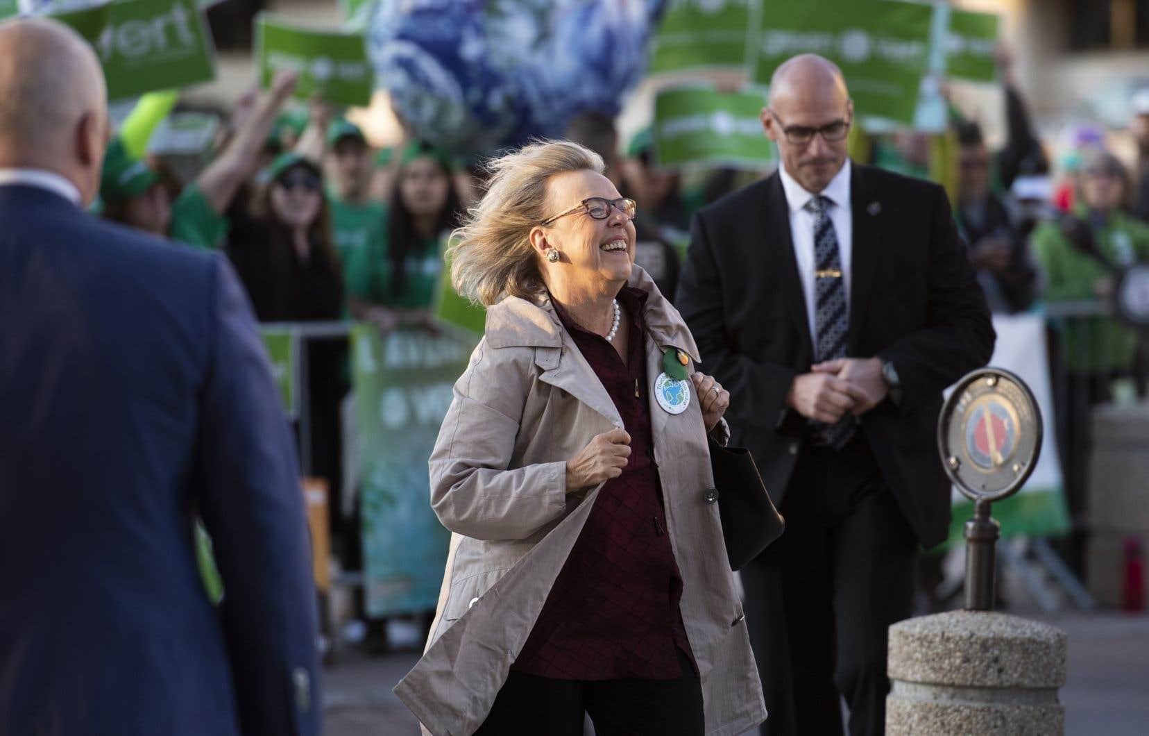 La cheffe du Parti vert du Canada, Elizabeth May