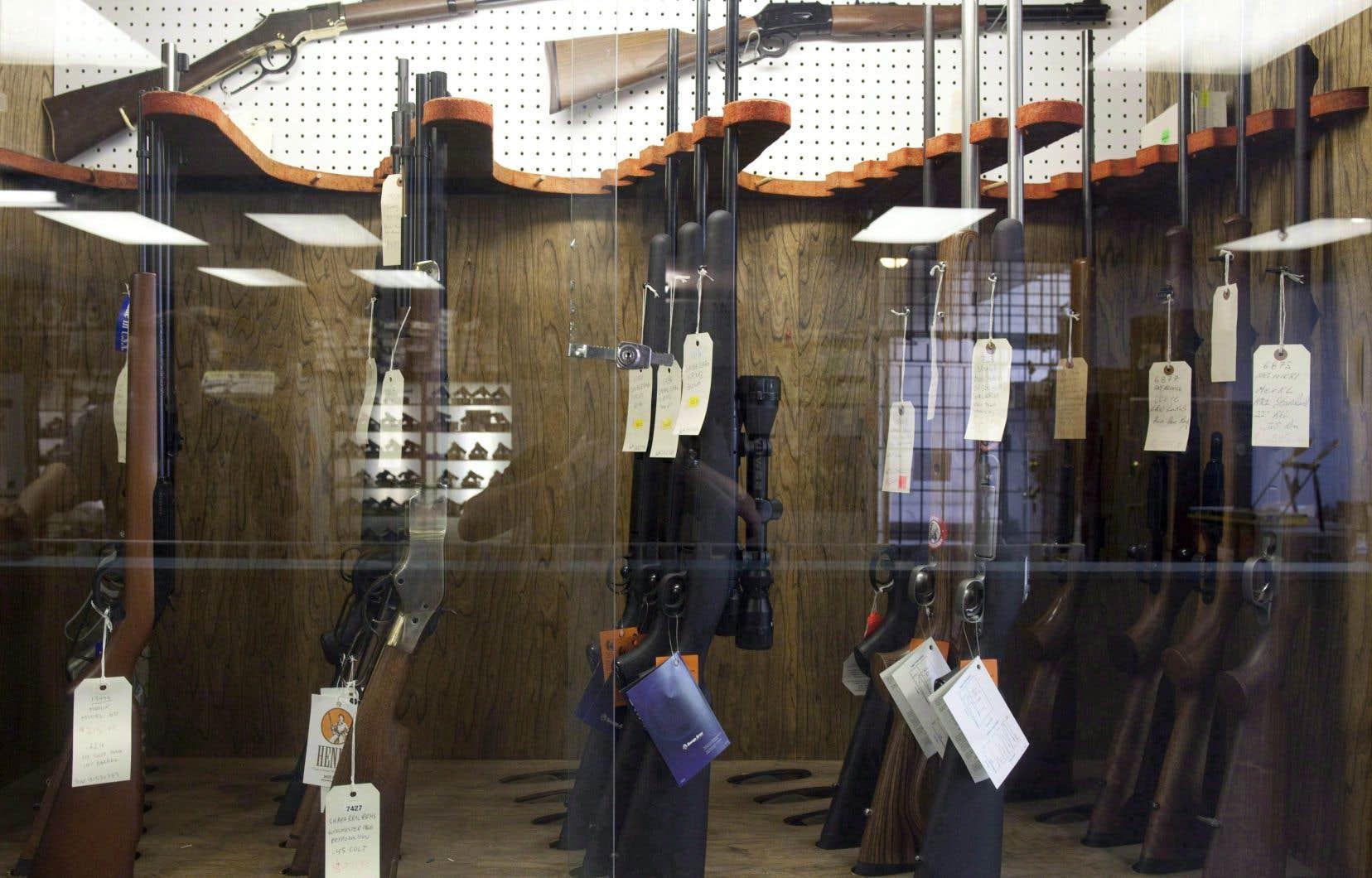 Quelque 462 000 armes avaient été immatriculées au Québec en date du 31 mars.