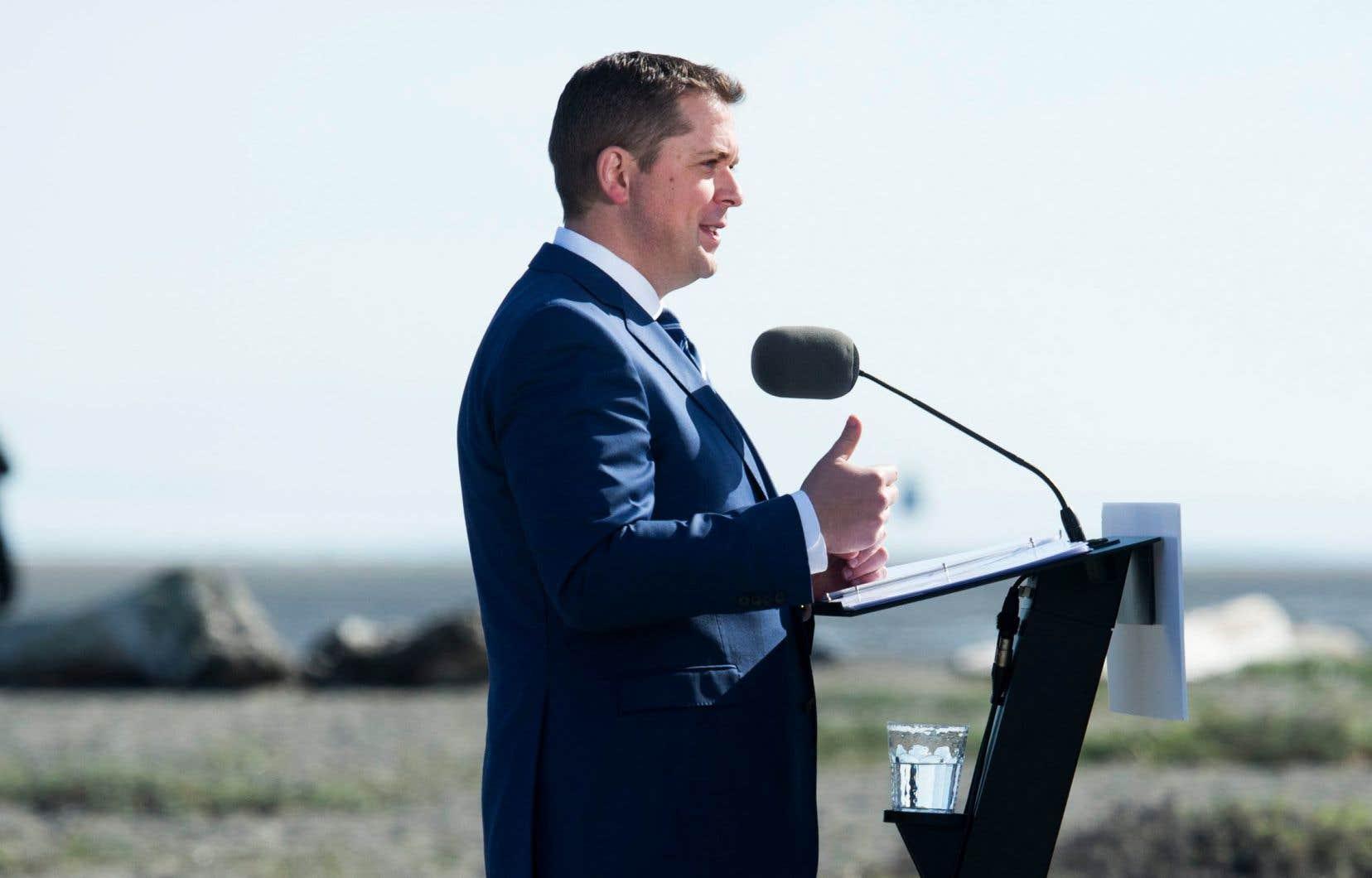 Le chef conservateur, Andrew Scheer, était de passage vendredi à Delta, en Colombie-Britannique, pour dévoiler la plateforme et le cadre financier du parti.