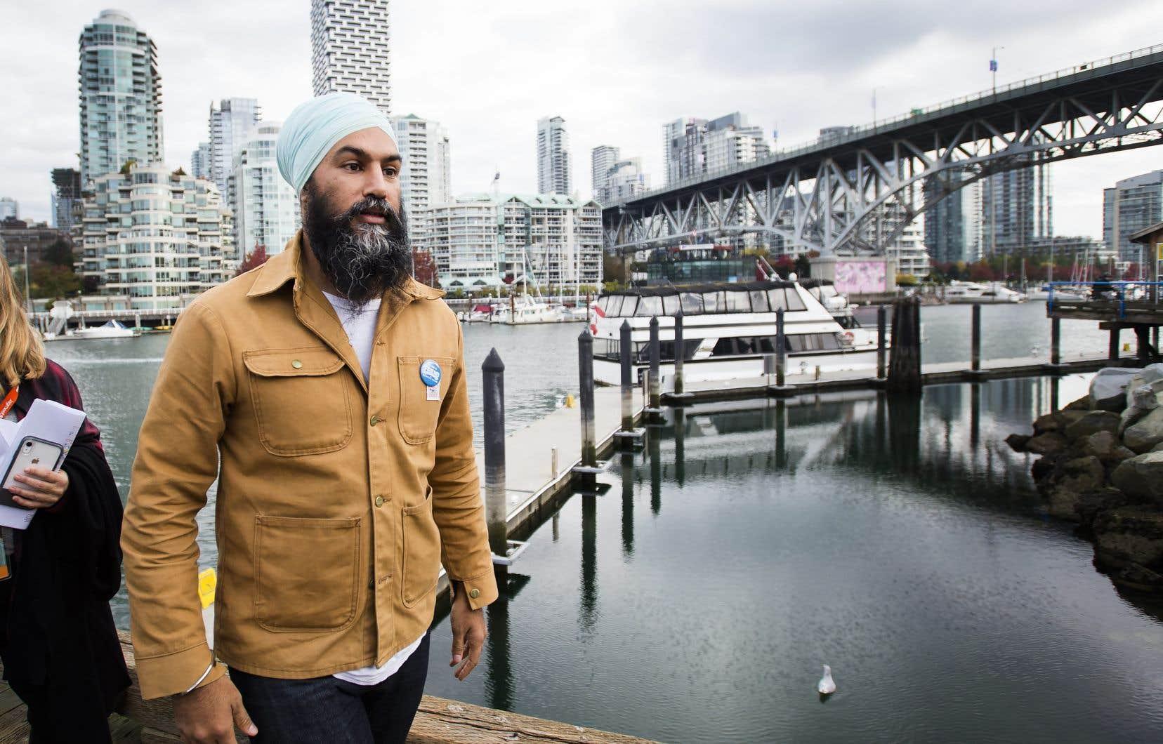 Le chef du NPD, Jagmeet Singh, était à Vancouver lundi.