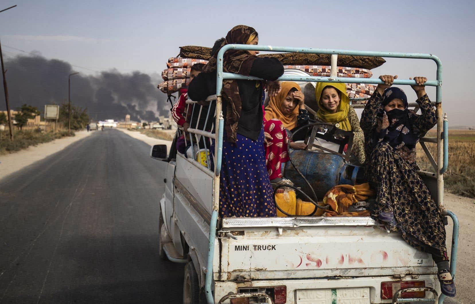 L'offensive turque a provoqué l'exode de 160 000 personnes dans le nord de la Syrie, d'après l'ONU.