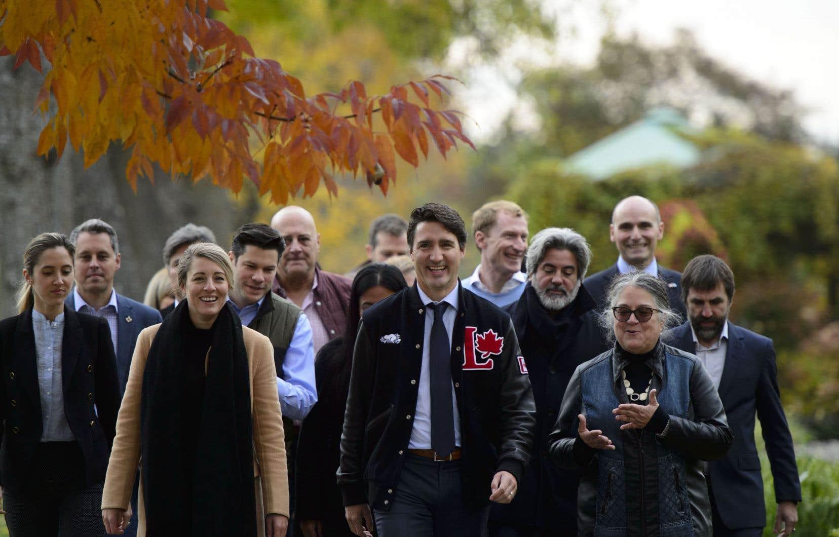 Justin Trudeau était de passage auJardin botanique à Montréal.