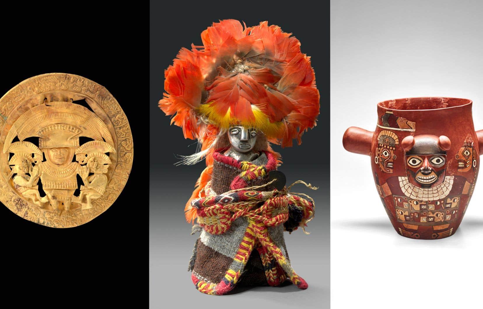 Près de 300 objets seront offerts aux yeux des visiteurs afin de leur faire connaître les civilisations préincas et incas.