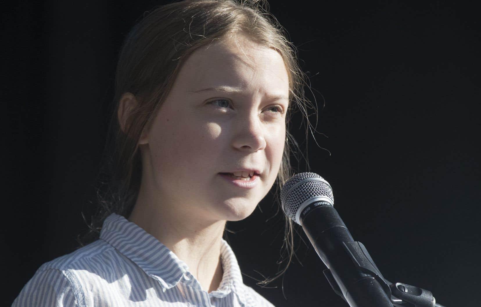 La jeune environnementaliste suédoise Greta Thunberg, à Montréal, en septembre dernier