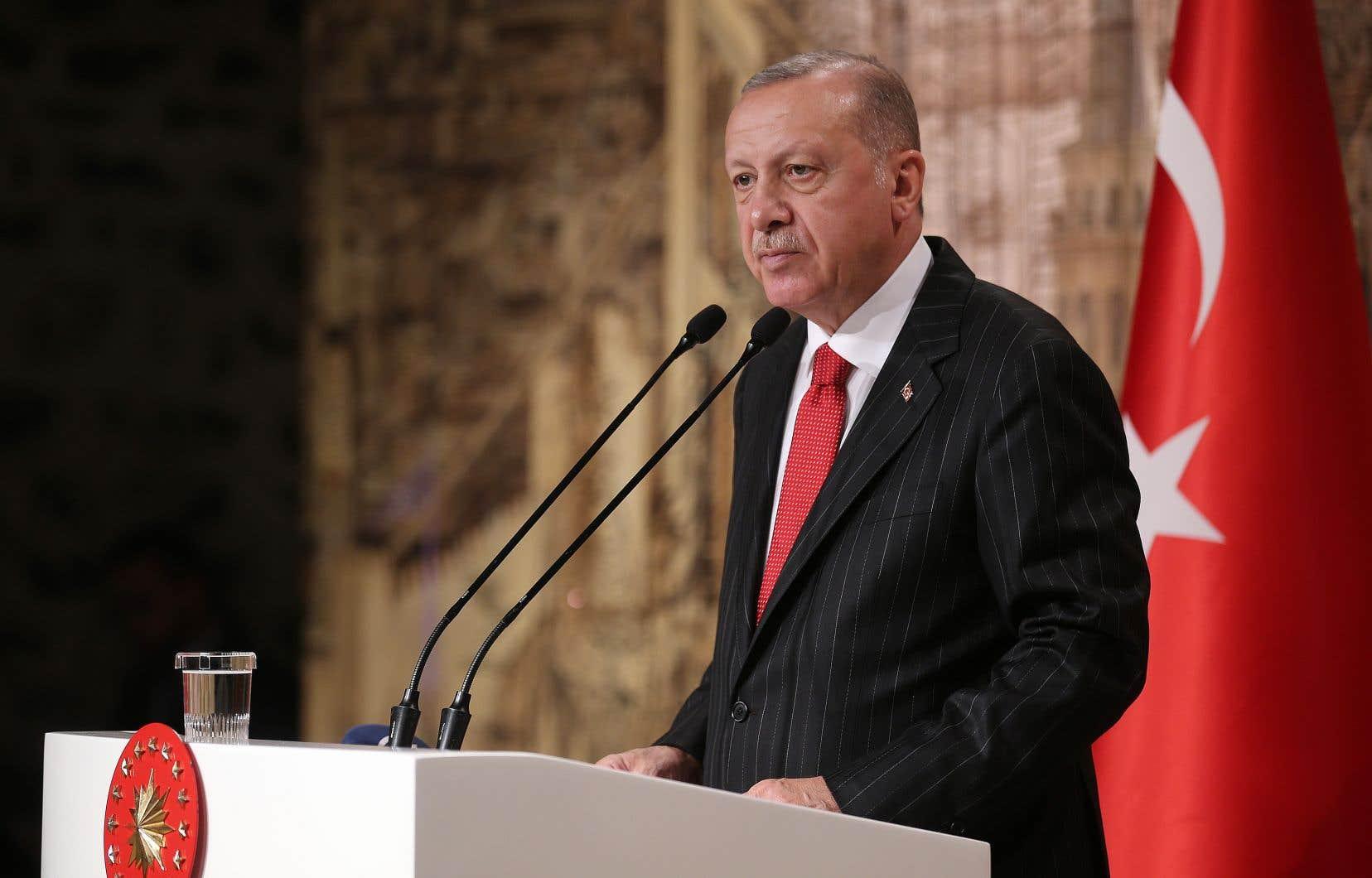 Erdogana notamment assuré que la Turquie n'avait pas l'intention de rester indéfiniment dans le nord de la Syrie.