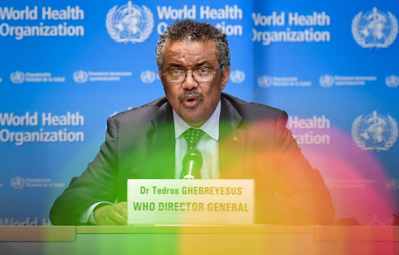 Le directeur général de l'Organisation mondiale de la santé, Tedros Adhanom Ghebreyesus