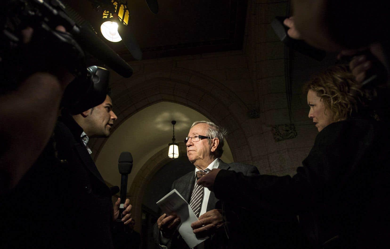 Louis Plamondon est le plus ancien député de la Chambre des communes à Ottawa.