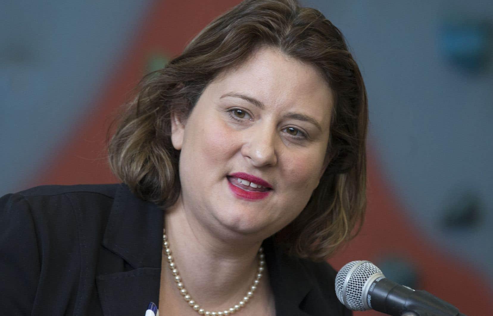 Laprésidente de la Commission scolaire de Montréal, Catherine Harel-Bourdon