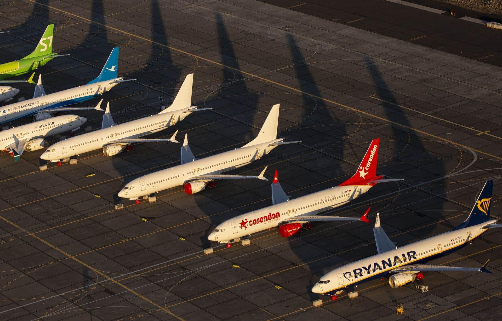 Les avions 737 MAX de Boeing sont cloués au sol depuis la mi-mars après deux accidents ayant fait 346 morts.