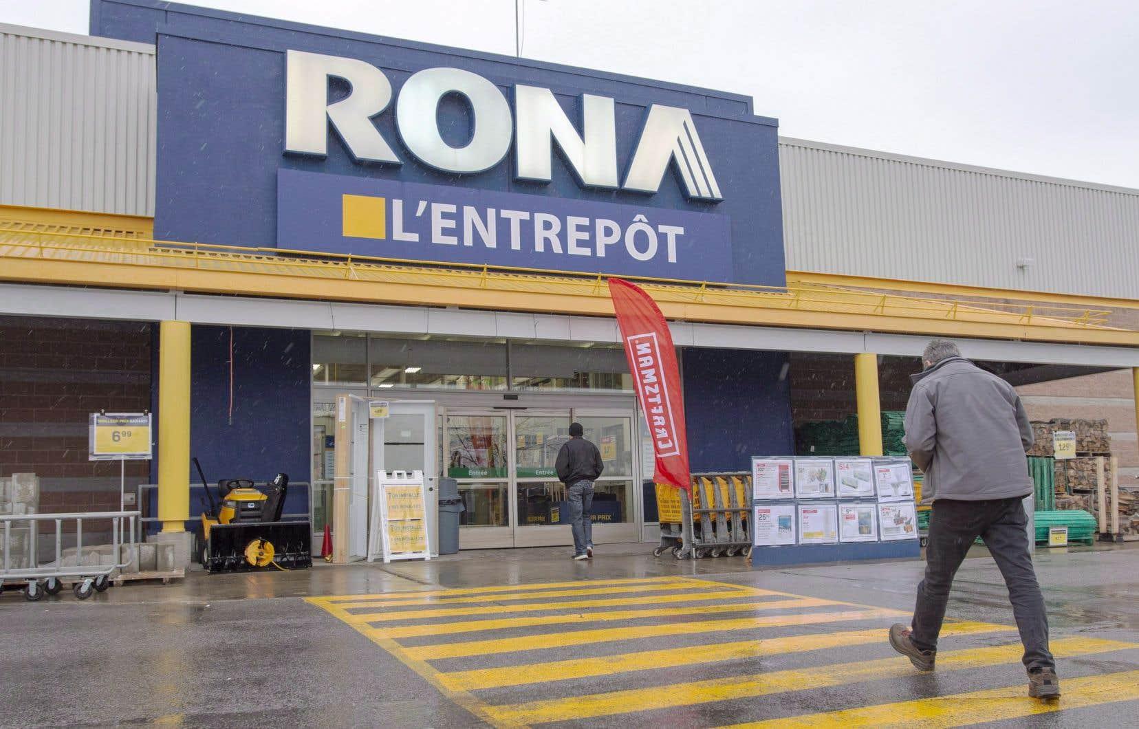Le géant américain de la rénovation Lowe's a mis la main sur le quincaillier Rona en 2016.