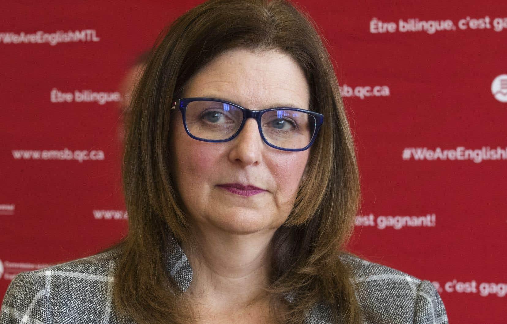 La présidente de la Commission scolaire English Montreal, Angela Mancini