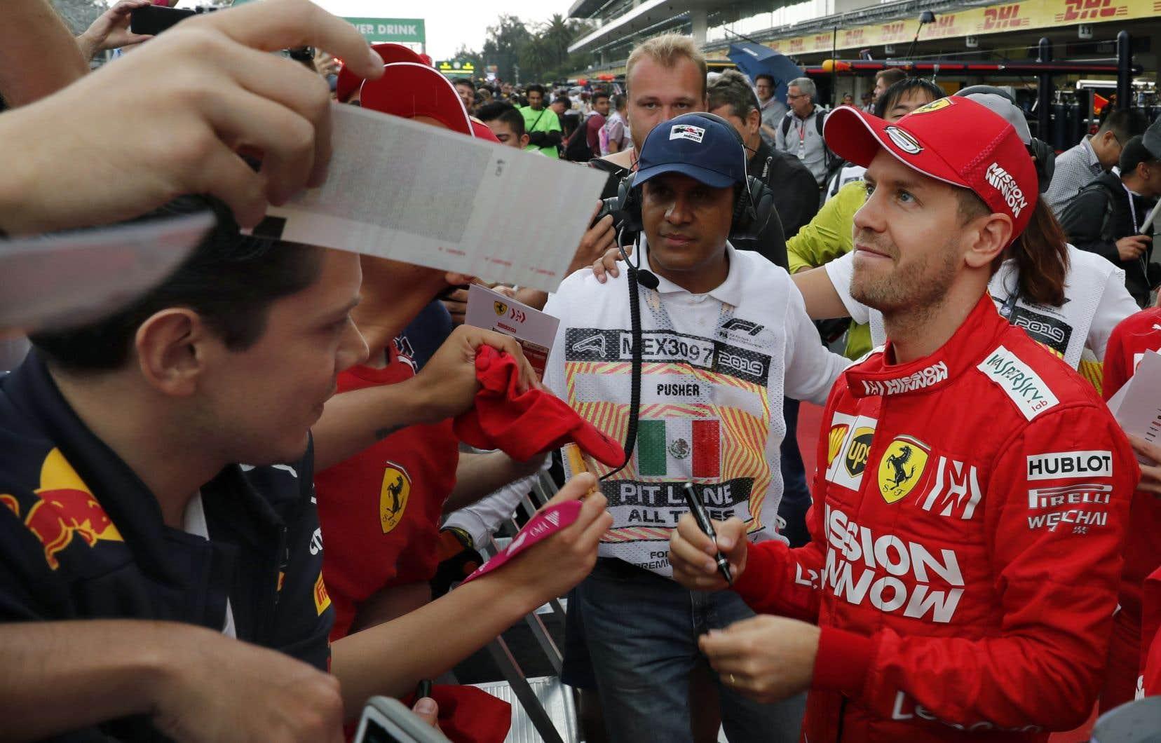 Sebastian Vettel s'est révélé le plus rapide lors de la deuxième séance d'essais libres du Grand Prix du Mexique.