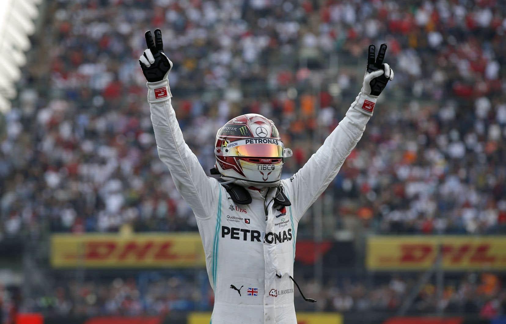 Lewis Hamilton a signé sa 10e victoire cette saison.