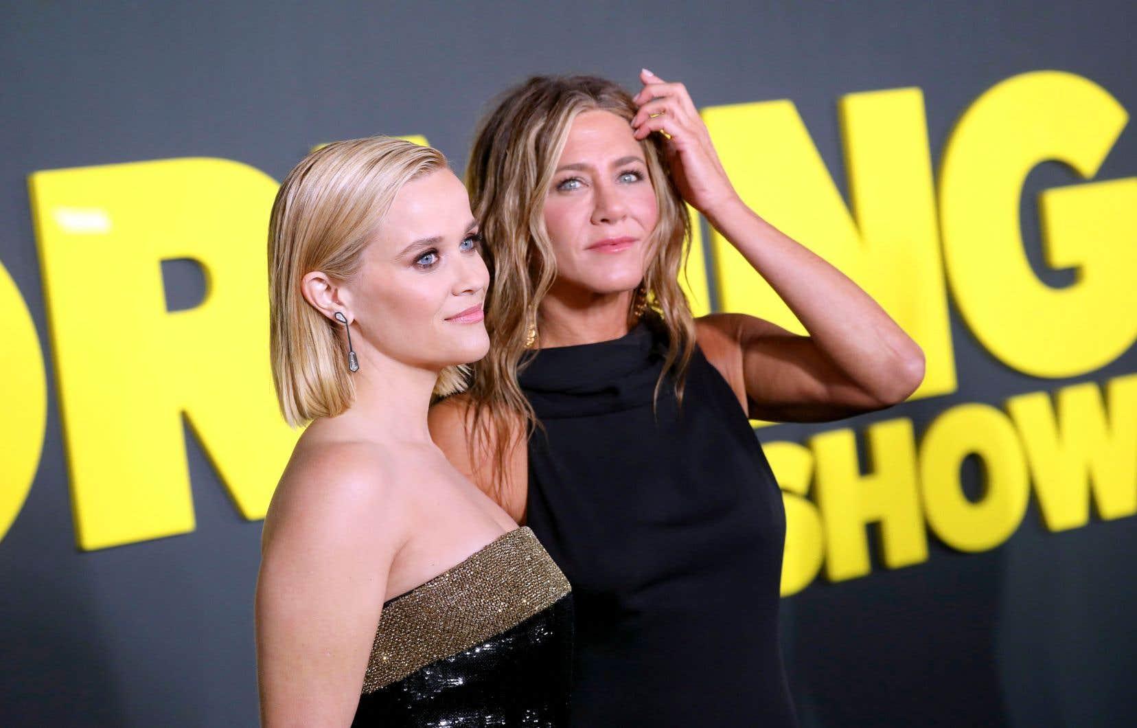 Reese Witherspoon et sa collègue actrice Jennifer Aniston partagent l'affiche de la série américaine «The Morning Show».