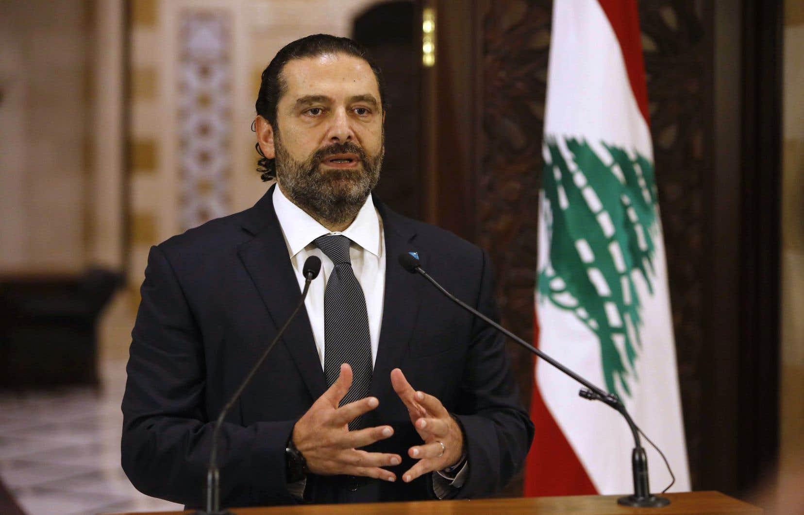 Le premier ministre du Liban, Saad Hariri