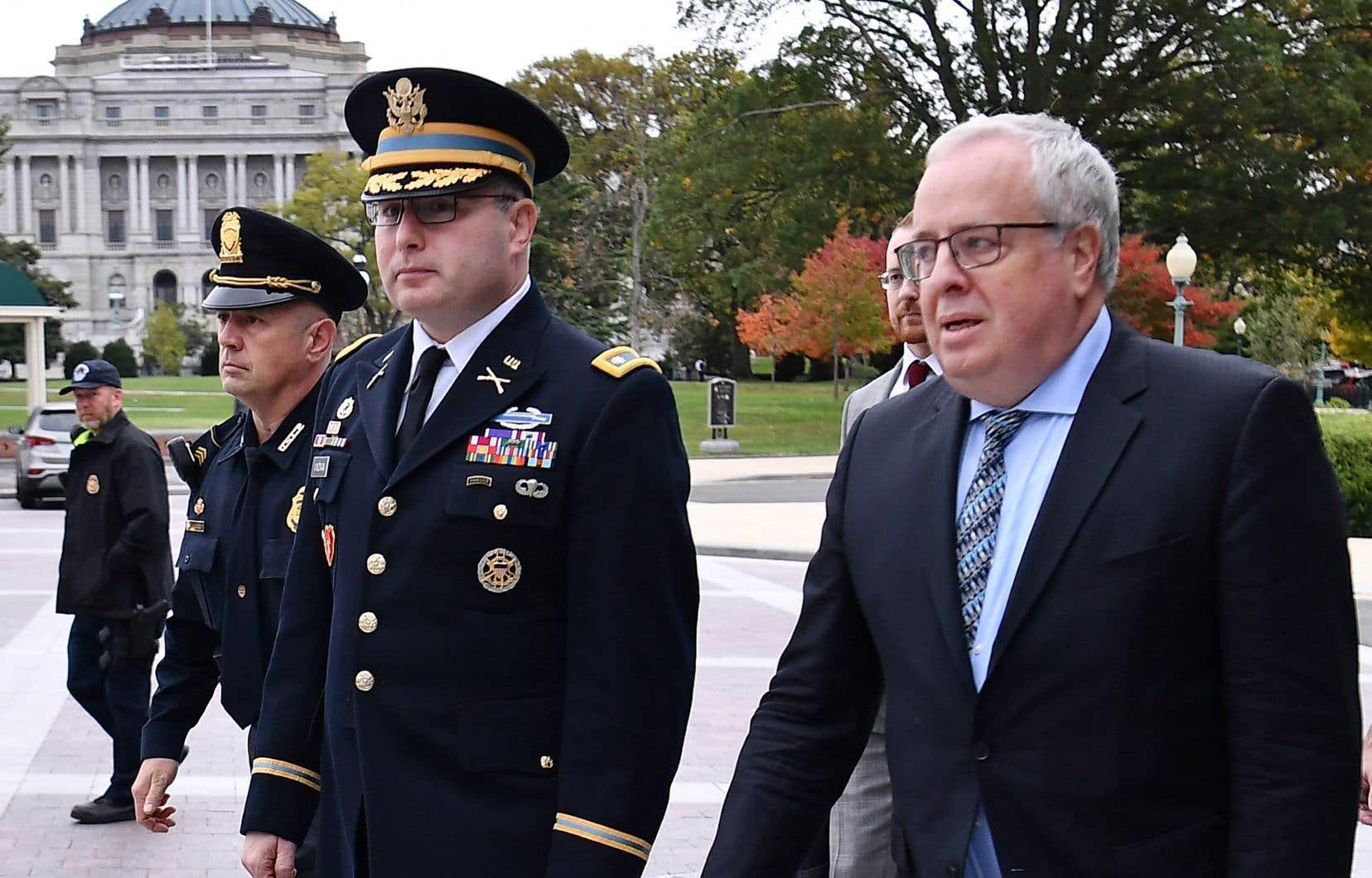 Directeur des affaires européennes au sein du Conseil de sécurité nationale, le lieutenant-colonel Alexander Vindman a témoigné mardi devant le Congrès américain.