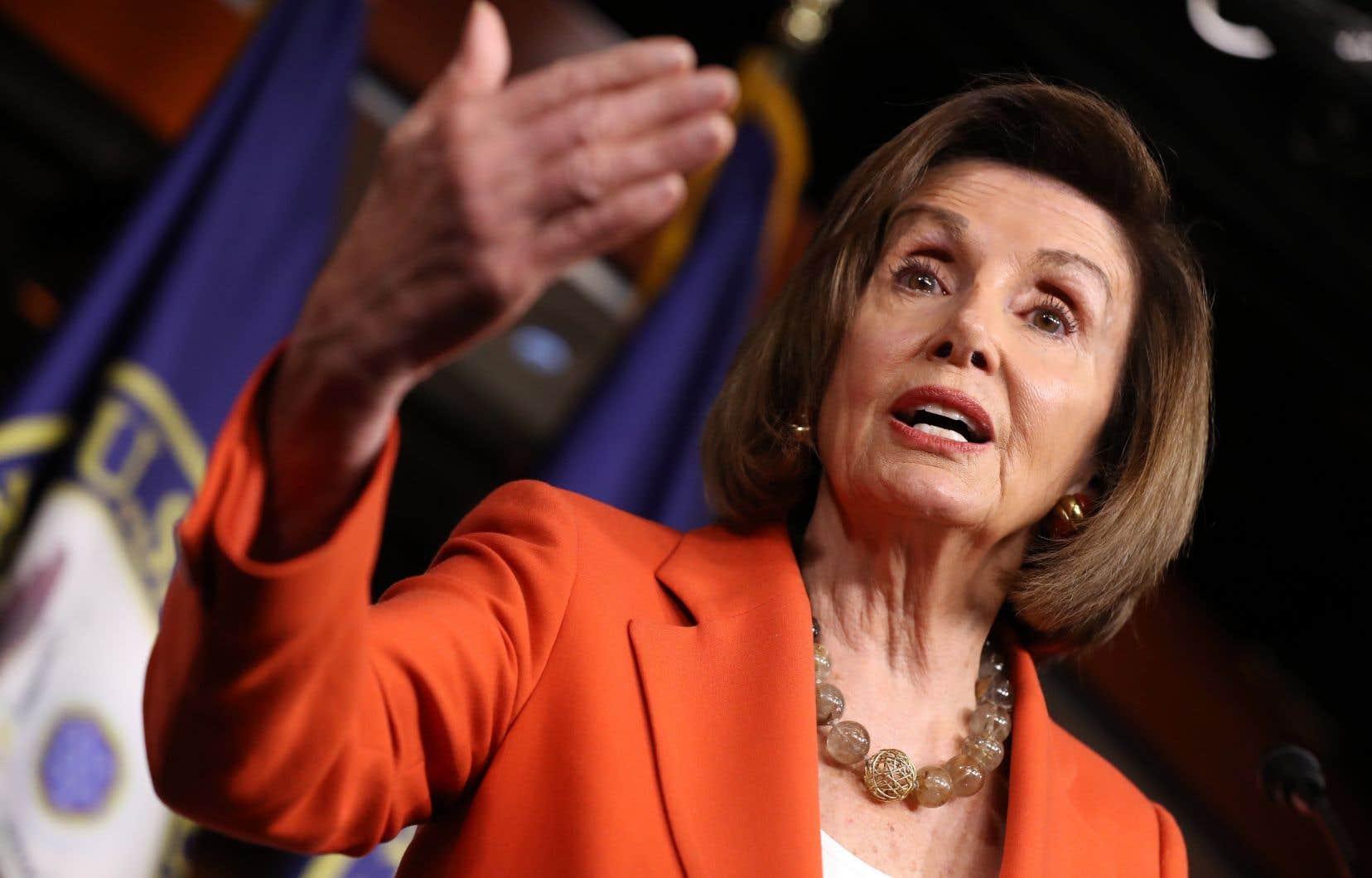 «C'est notre démocratie qui est en jeu», a affirmé la présidente démocrate de la Chambre des représentants, Nancy Pelosi.