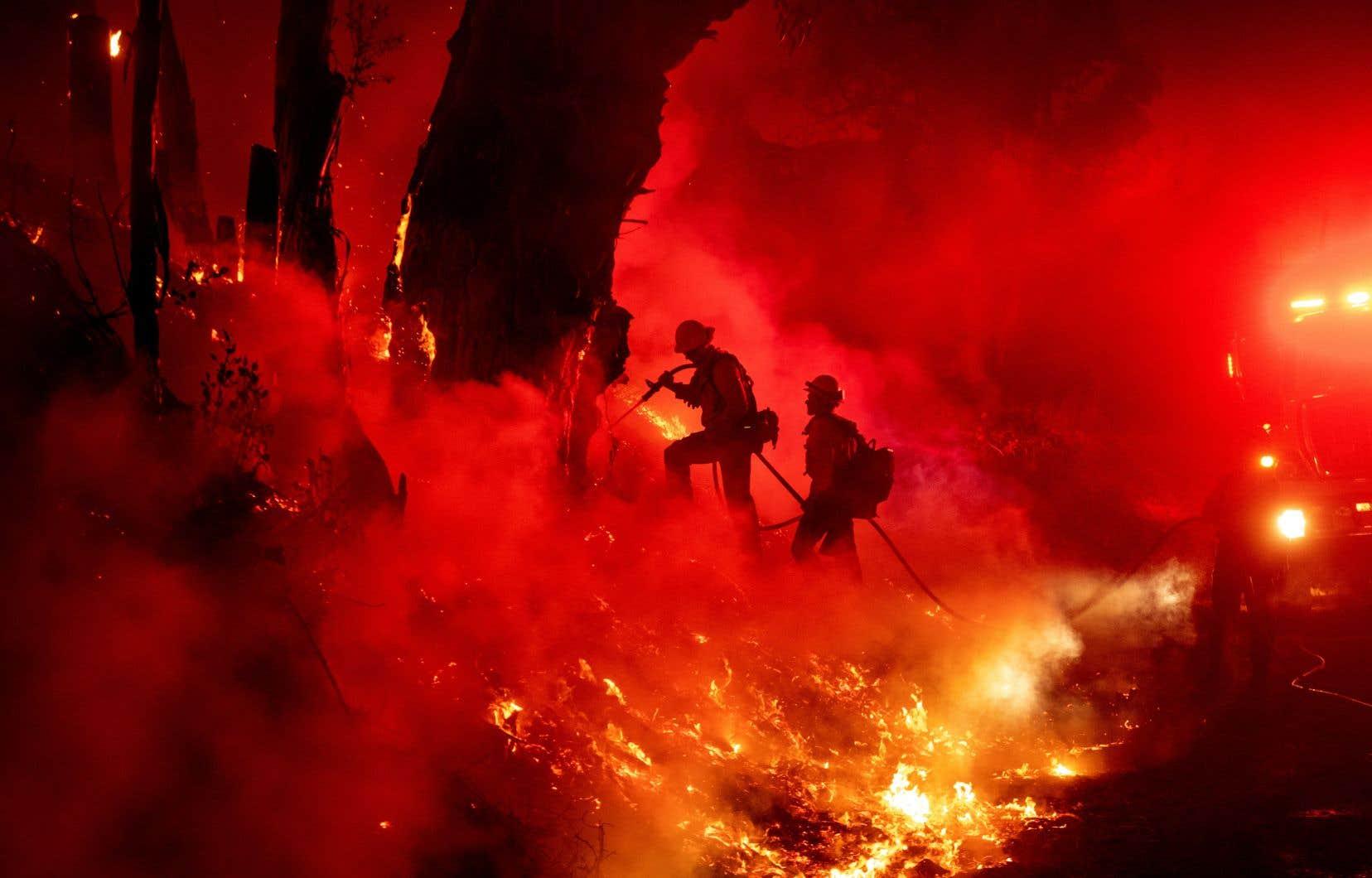 <p>L'incendie <em>Maria</em>menace deux petites villes agricoles et a déjà entraîné l'évacuation de plus de 7000 personnes et ravagé 2000 hectares.</p>