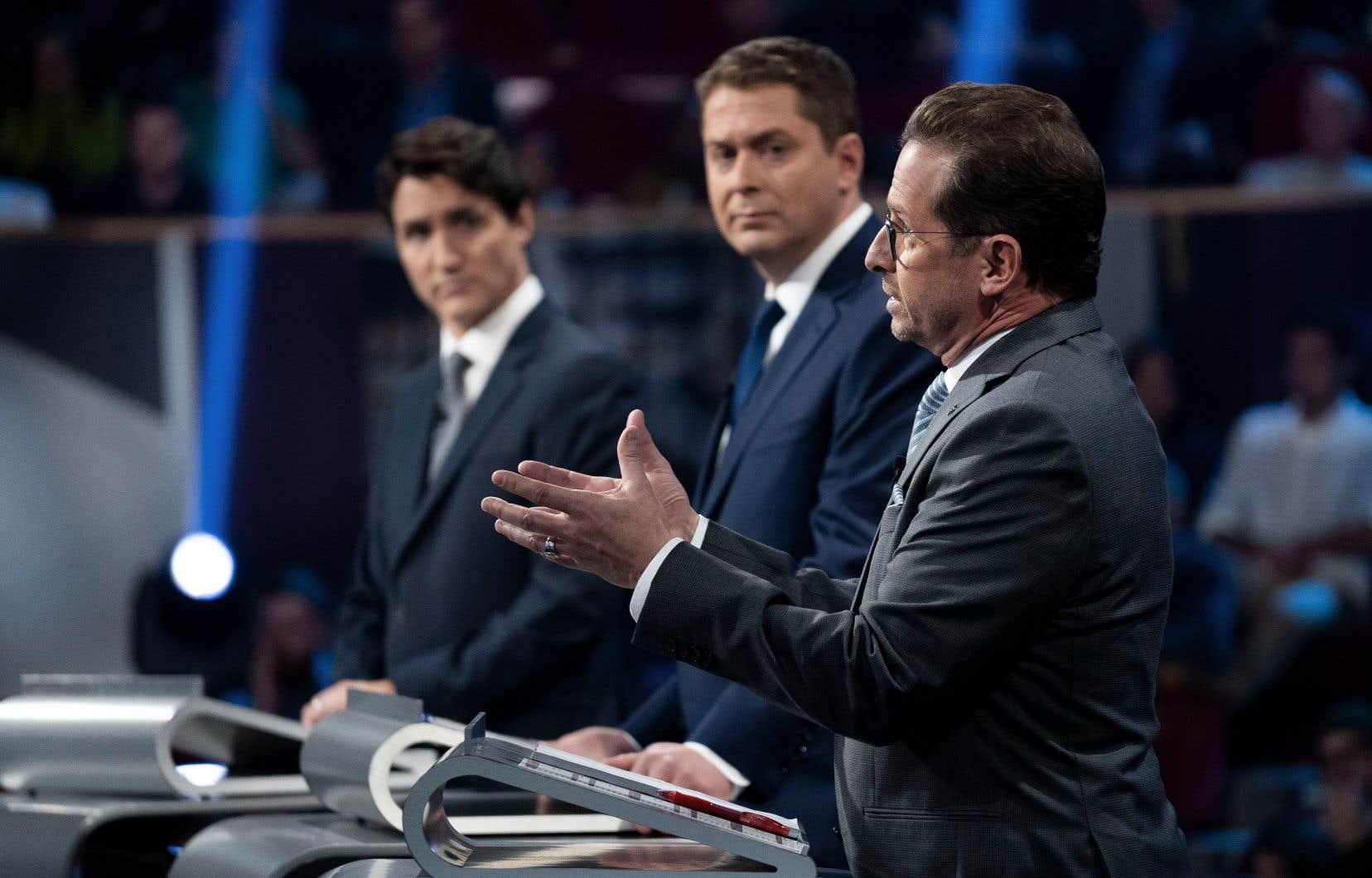Les chefs de parti, notamment Justin Trudeau, Andrew Scheer et Yves-François Blanchet, ont croisé le fer à deux reprises devant les caméras de télévision au cours de la campagne électorale.