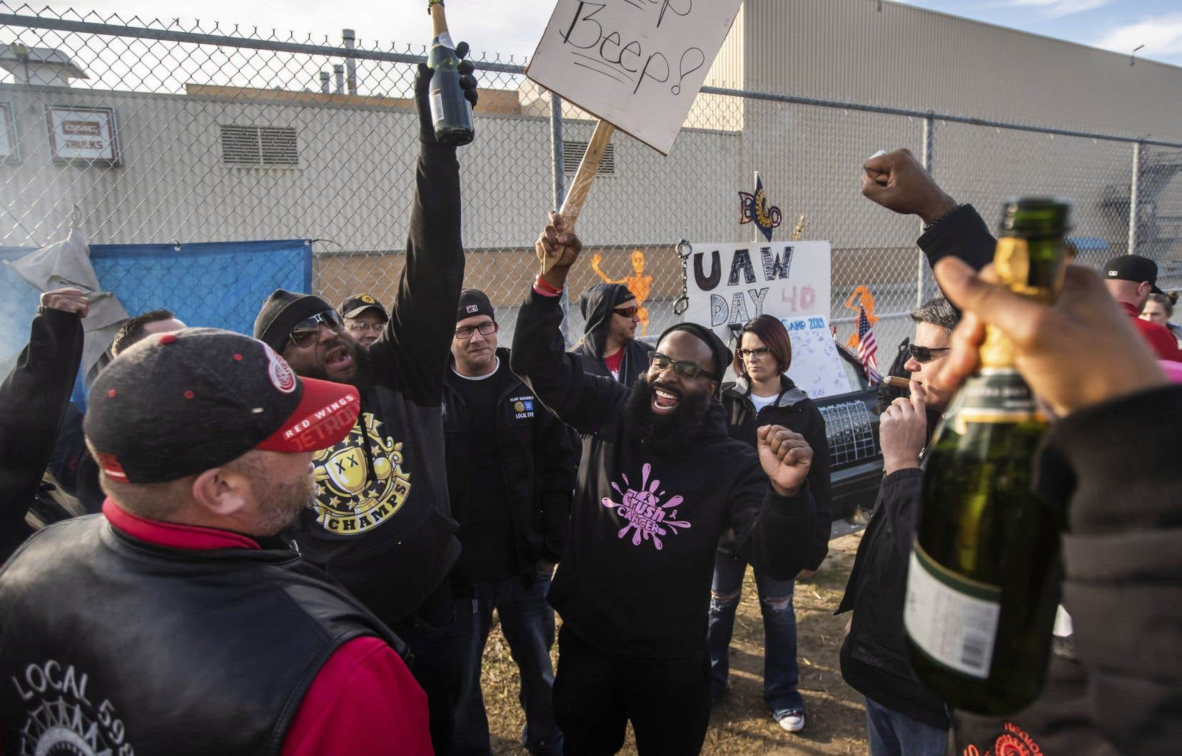 La grève de quarante jours chez General Motors, qui a débouché sur un accord salarial célébré par les grévistes le 25 octobre dernier, est en partie responsable de cette hausse du taux de sans-emploi.
