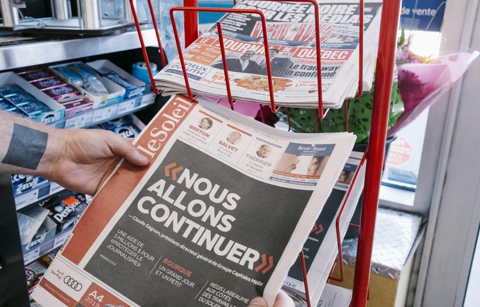 «Québec-Presse» était le fruit des efforts d'une coalition, qui n'est pas sans rappeler l'initiative de coopérative du Groupe Capitales Médias.