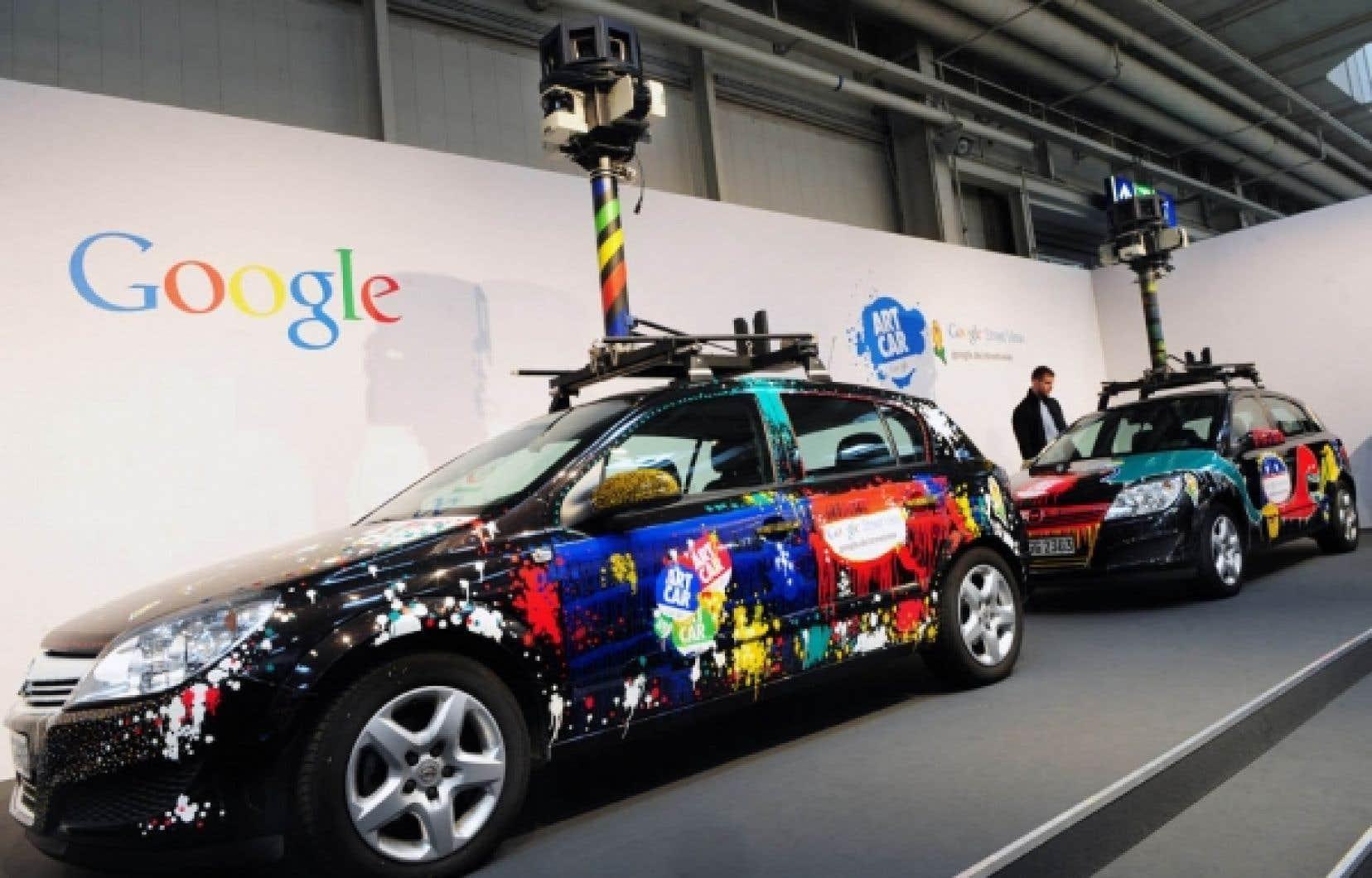 Les voitures chargées par Google de photographier l'environnement bâti d'un océan à l'autre pour son service de cartographie Street View étaient aussi équipées d'un logiciel doté d'un code particulier qui permettait de capter les signaux de réseaux sans fil et d'extraire les données qu'ils contenaient.<br />
