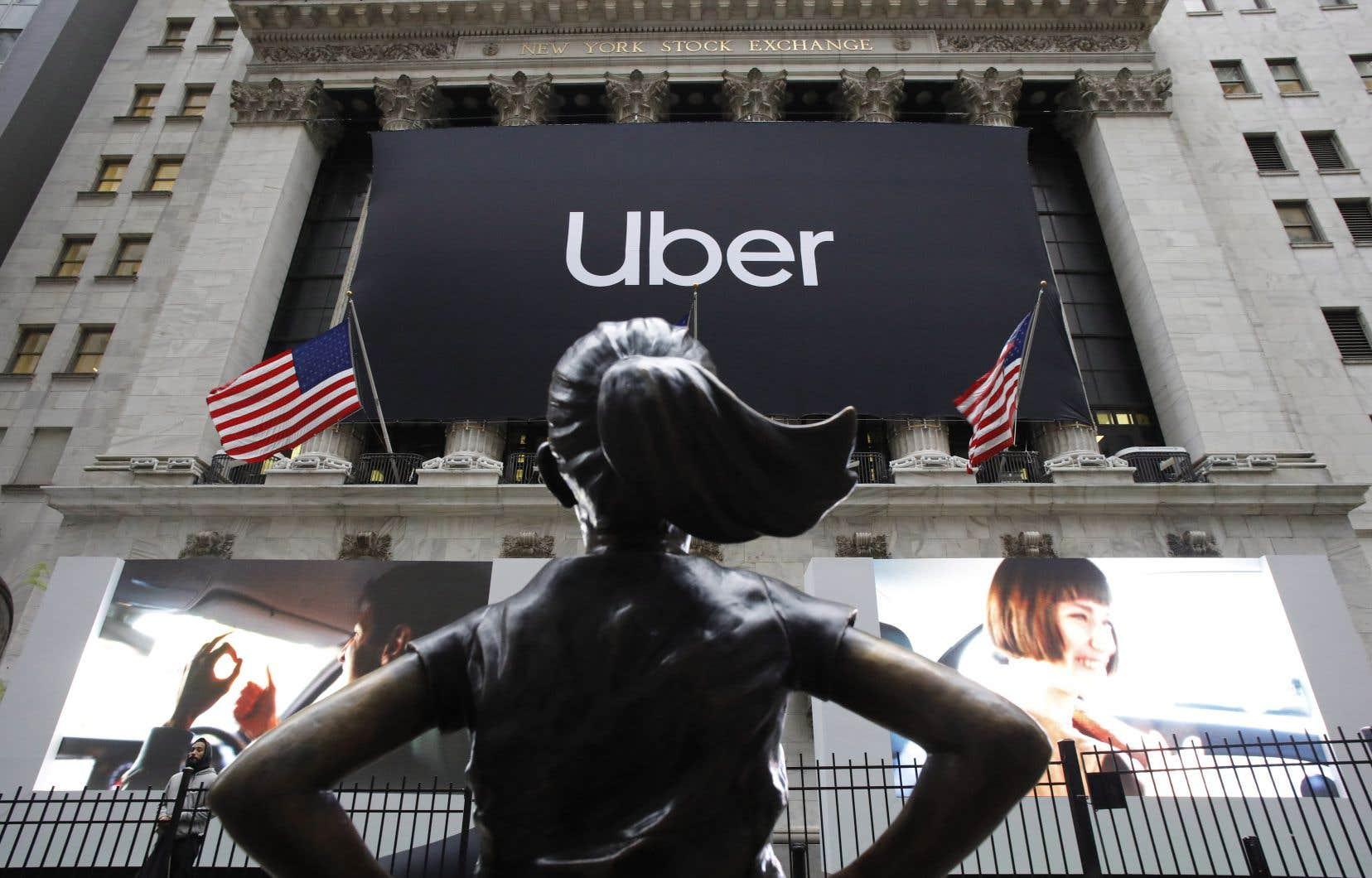 L'action d'Uber était en recul de 4% lundi sur la cote électronique d'après séance.