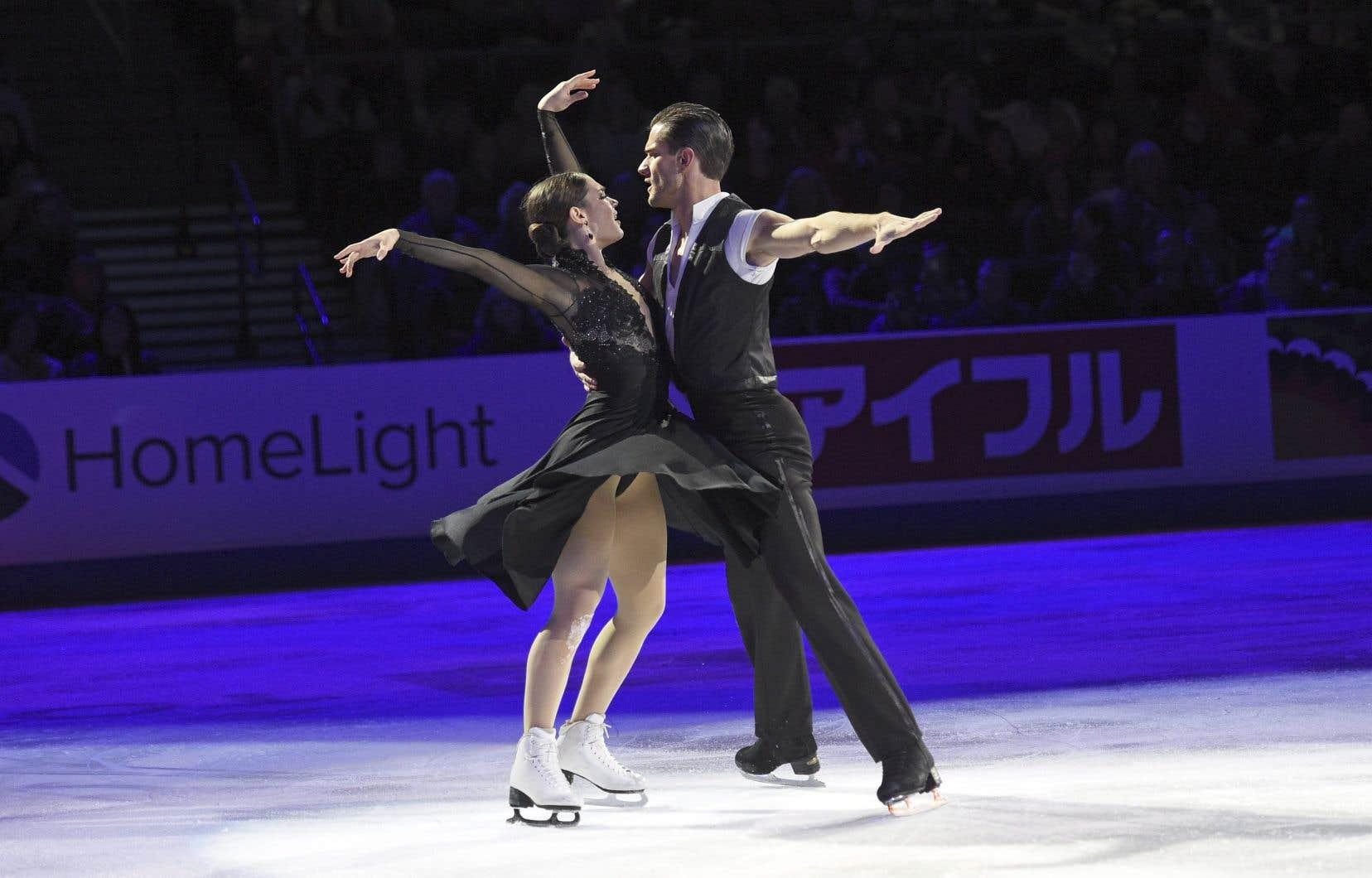 Le duo canadien Laurence Fournier Beaudry et Nikolaj Sorensen à Las Vegas en octobre dernier.
