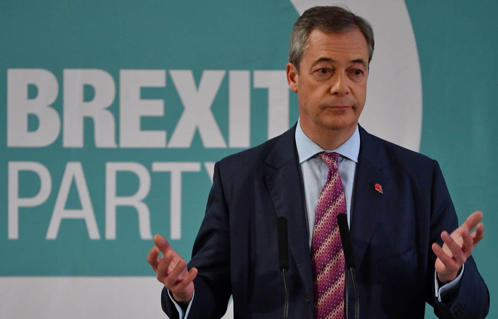 Le chef du parti du Brexit, Nigel Farage