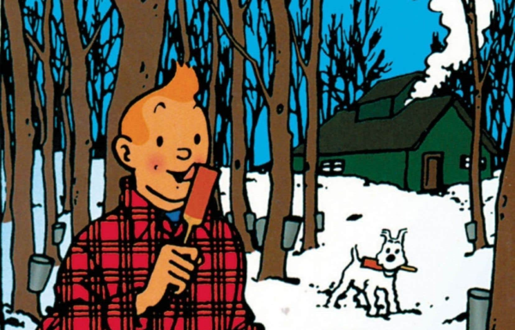 Dessin d'Hergé (1965), colorisé par les Studios Hergé (2010).<br />