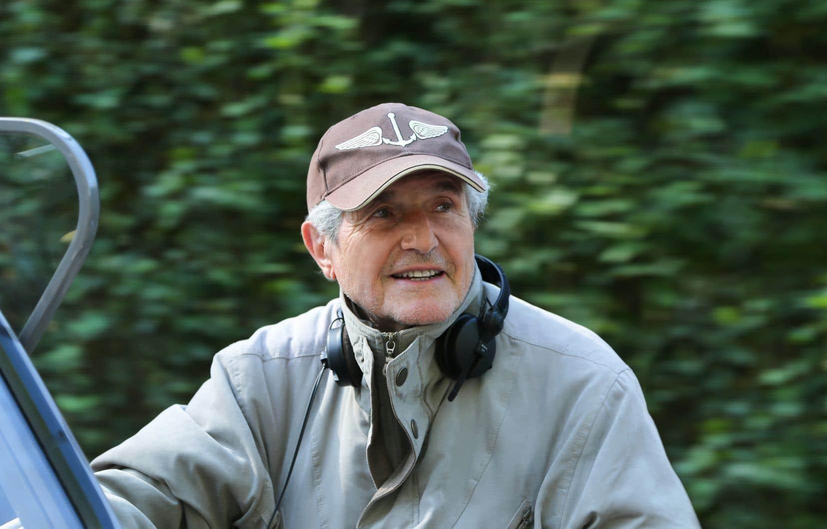 Claude Lelouch sur le plateau de tournage du film «Les plus belles années»
