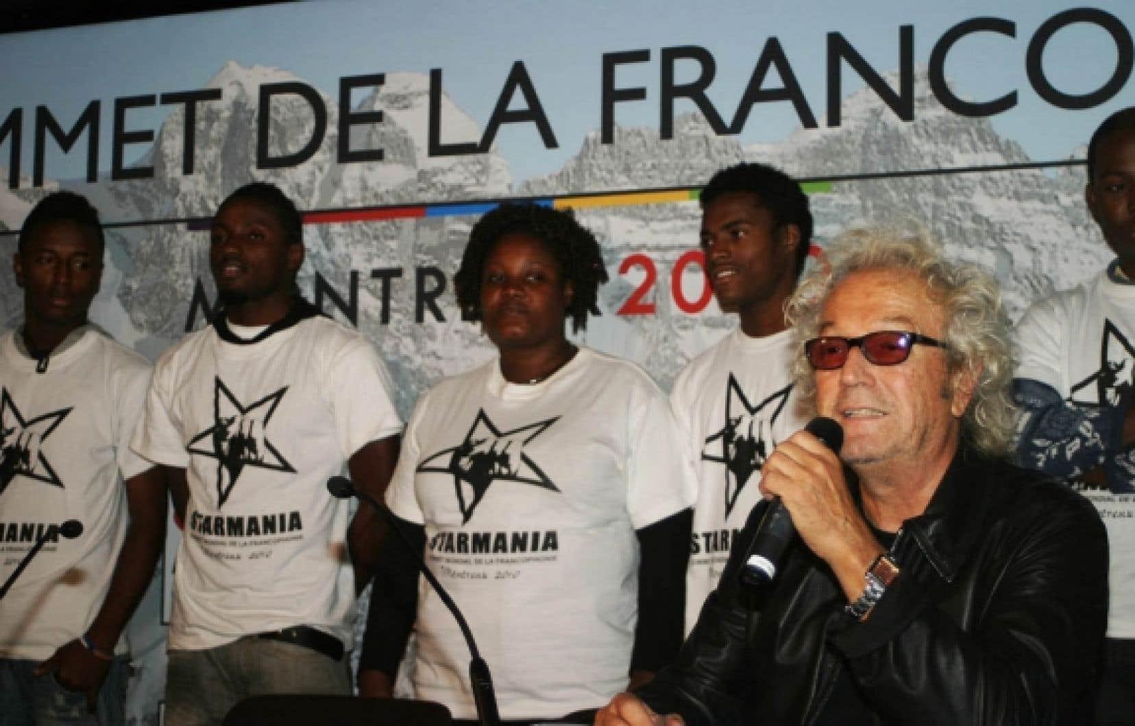 Luc Plamondon a présenté hier à Montreux la troupe de jeunes Haïtiens qu'il parraine, Haïti en spectacle. Il en a profité pour critiquer la loi 115 du gouvernement Charest (voir ci-dessous).<br />