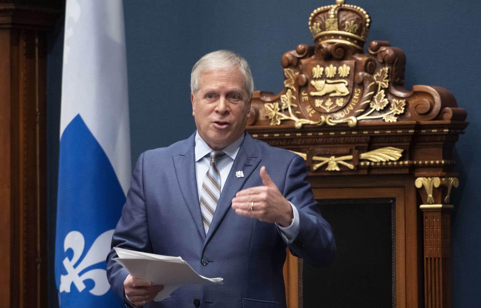 Le président de l'Assemblée nationale, François Paradis