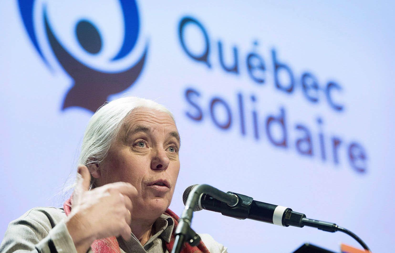 «On se voit déjà, dans l'avenir, à la tête de ce pays», a déclaré la porte-parole féminine de Québec solidaire, Manon Massé, vendredi soir.