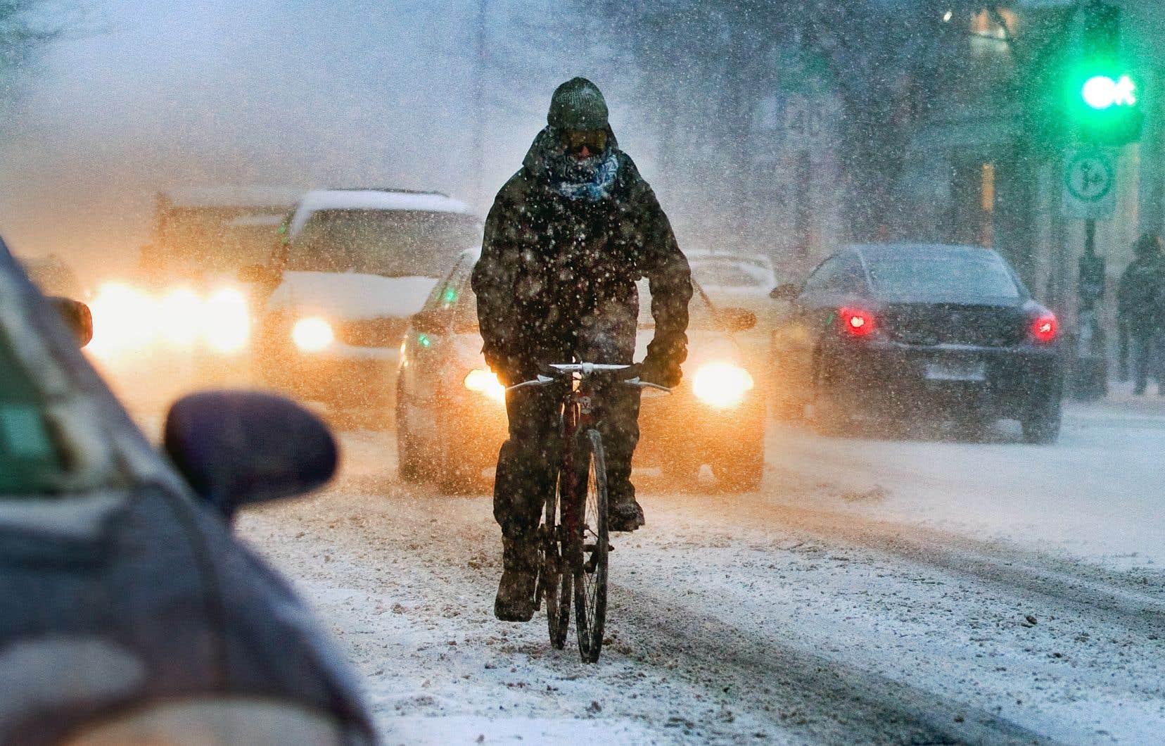 Environ 100000 cyclistes continueraient d'utiliser leur bicyclette à Montréal entre les mois de décembre et de mars, selon Vélo Québec.