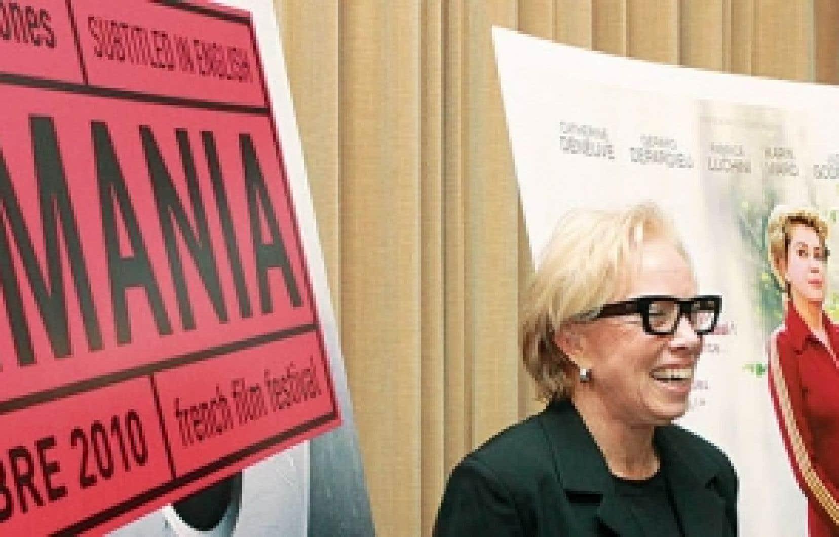 Maidy Teitelbaum, la présidente et fondatrice du Festival de films francophones Cinemania, et la directrice générale, Geneviève Royer, hier lors de la conférence de presse.<br />