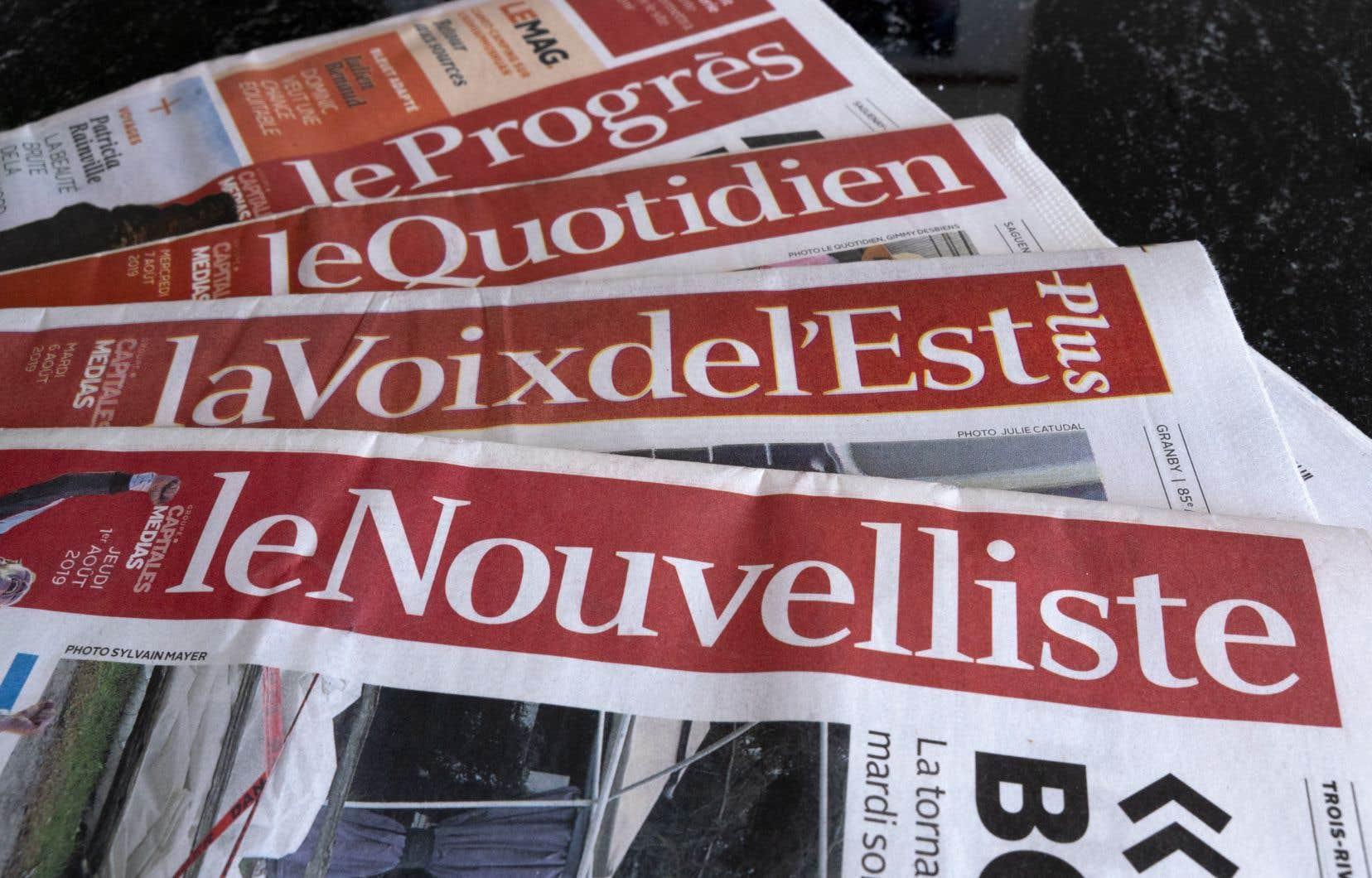 GCM compte quelque 350 employés permanents et publie les quotidiens régionaux <em>Le Soleil</em>, <em>La Tribune</em>, <em>La Voix de l'Est</em>, <em>Le Droit</em>, <em>Le Nouvelliste</em> et <em>Le Quotidien</em>.