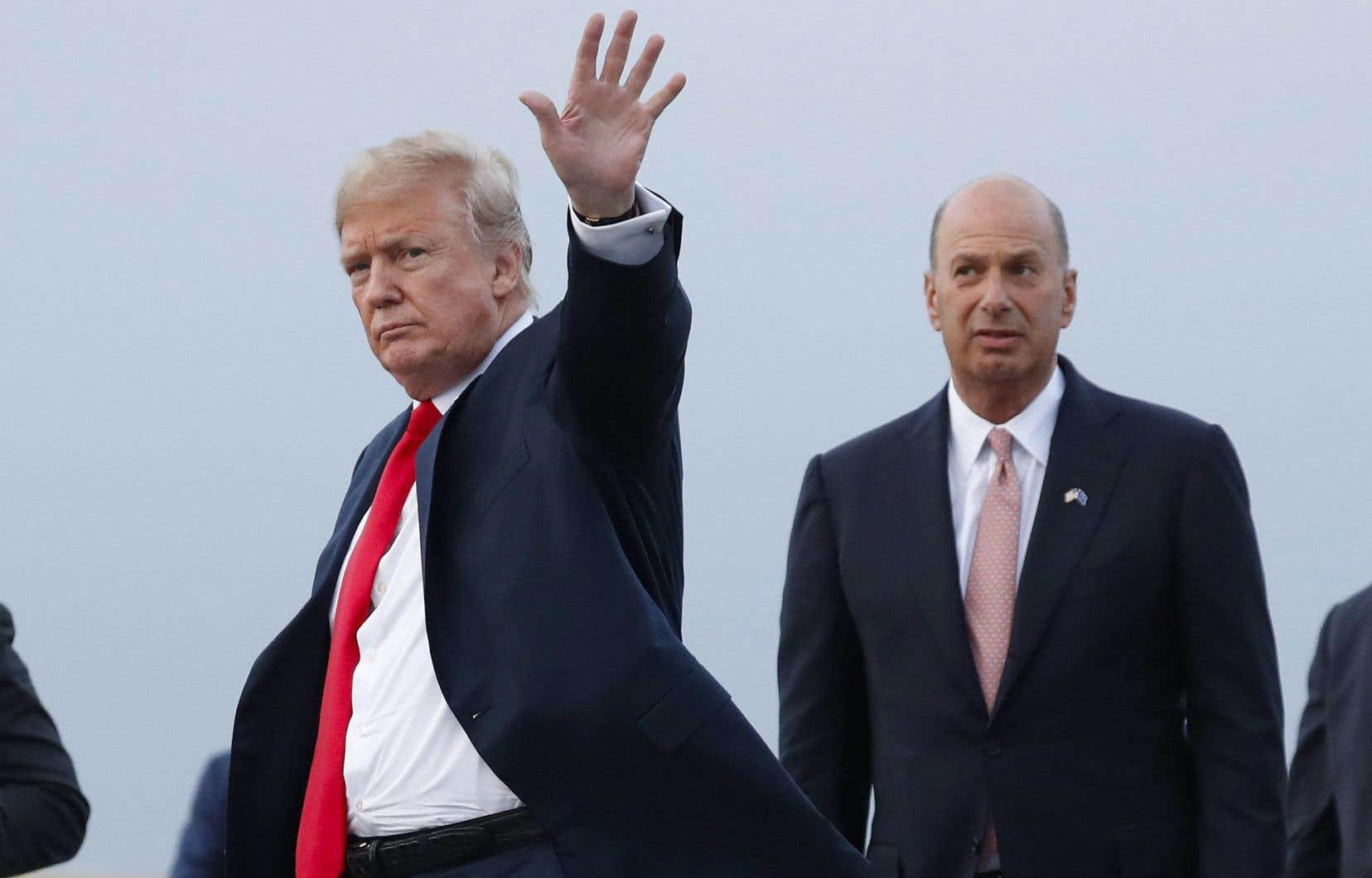 Donald Trump et Gordon Sondland à leur arrivée à Bruxelles en juillet 2018