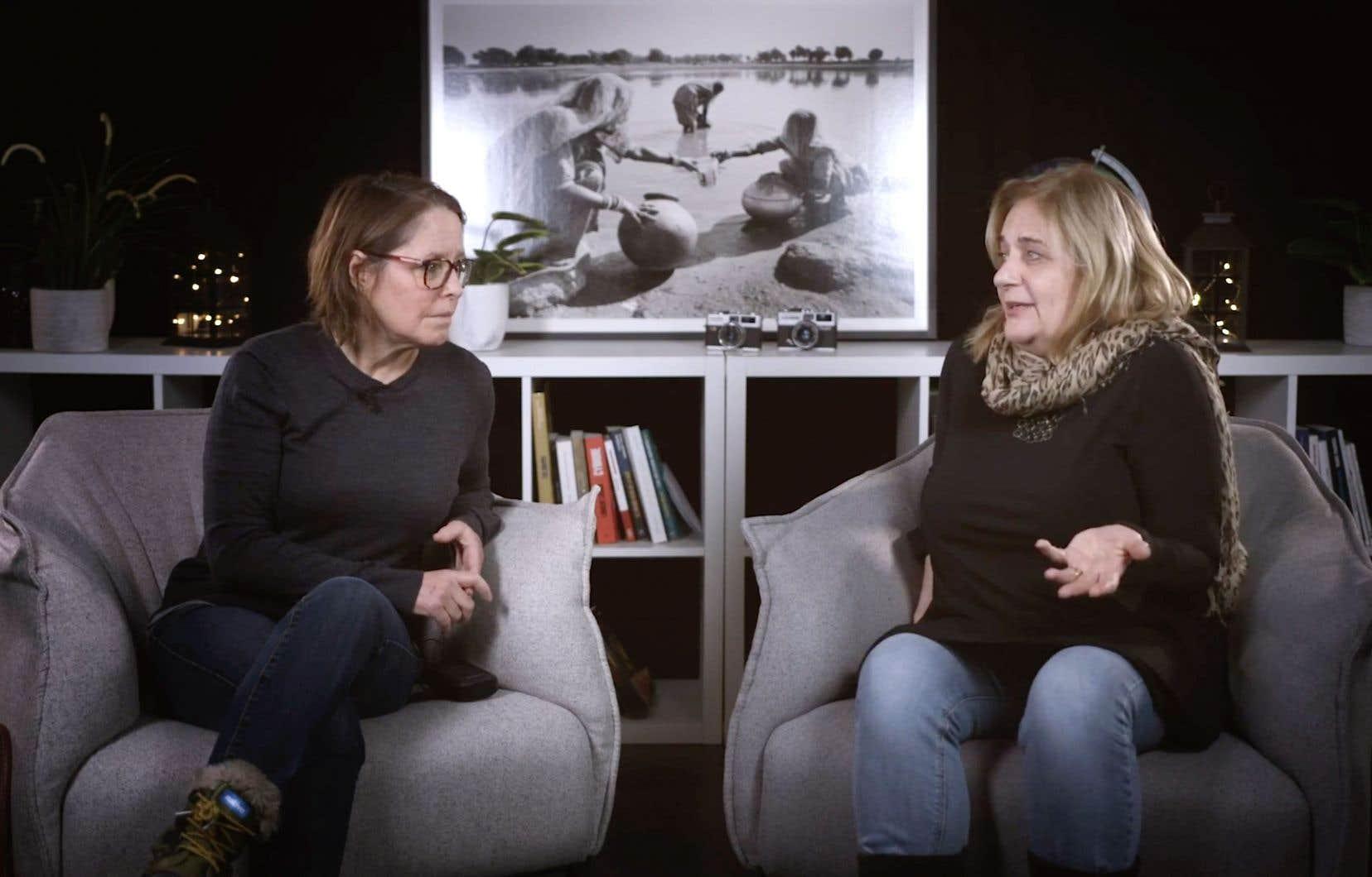 Les journalistes retraitées de «La Presse» Michèle Ouimet et Nathalie Petrowski