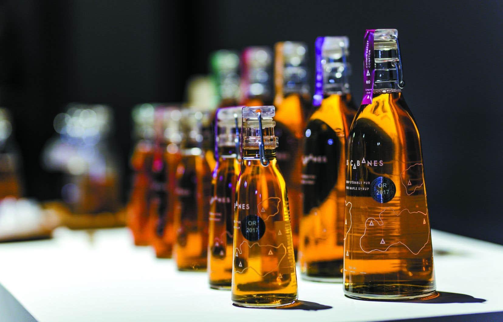 Les bouteilles de sirops de Nos Cabanes